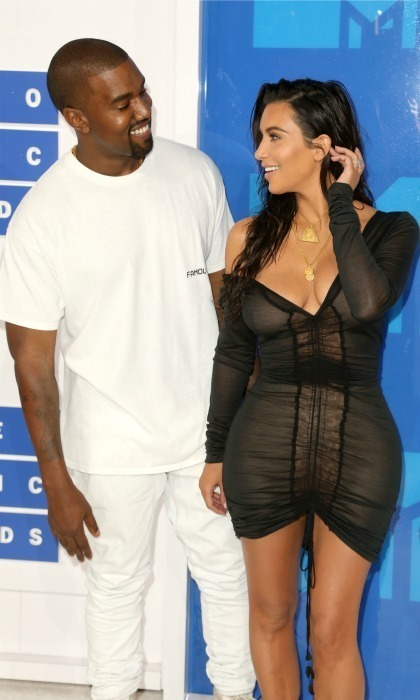 Kanye shared a sweet video on his Twitter in honour of Kim's 36th birthday. 
