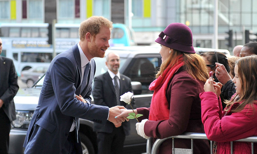 Also during his trip to Nottingham Central Police Station, which will also be home to Nottingham City Council's Community Protection, Prince Harry was gifted with a single white rose in memory of his mother, Diana. Dr Alicia Osorio, 32, originally from Mexico City, revealed she told Harry she was gave his the pretty flower because his mother was an English rose.