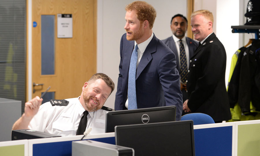 The charming royal shared a joke with Inspector Paul Gummer at the opening of the new Nottingham Police and Nottingham Council station. The joint station will enable citizens to have access to a wide range of police and council services in one place.