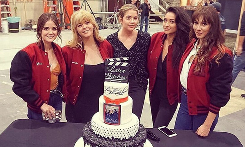 The cast of <em>Pretty Little Liars</em> just wrapped up filming on their final episode, and Canadian star Shay Mitchell was quick to share the emotional farewell with her devoted fans.