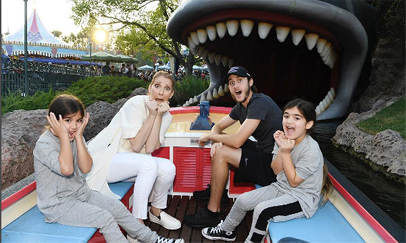 Celine Dion celebrated twins Nelson and Eddy's sixth birthdays - their first since losing their father - at the happiest place on earth on Oct. 23. 15-year-old René-Charles, who marked the same milestone with his parents at the theme park nine years ago, was also on hand. 