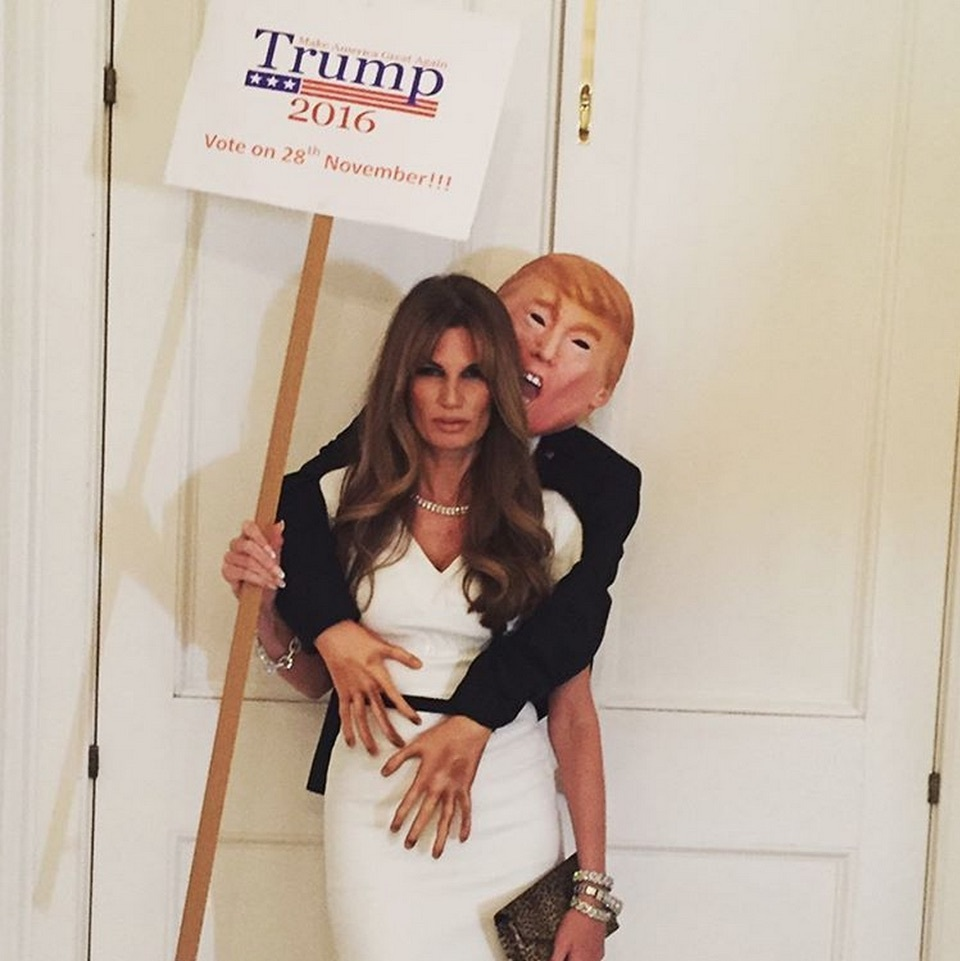 Jemima Khan stole the show at the UNICEF Halloween Ball as Melania Trump, with her scene-stealing husband Donald Trump close at hand...