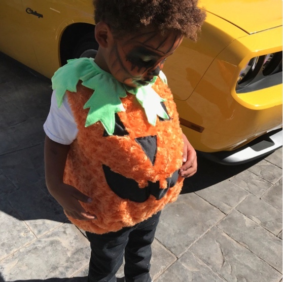 Wiz Khalifa and Amber Rose's son Sebastian is one adorable pumpkin!
