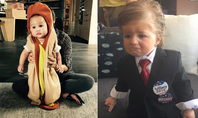 From hot dogs and Disney characters to superheroes and Donald Trump, click through our gallery to see what costumes celebrity kids are rocking this year!