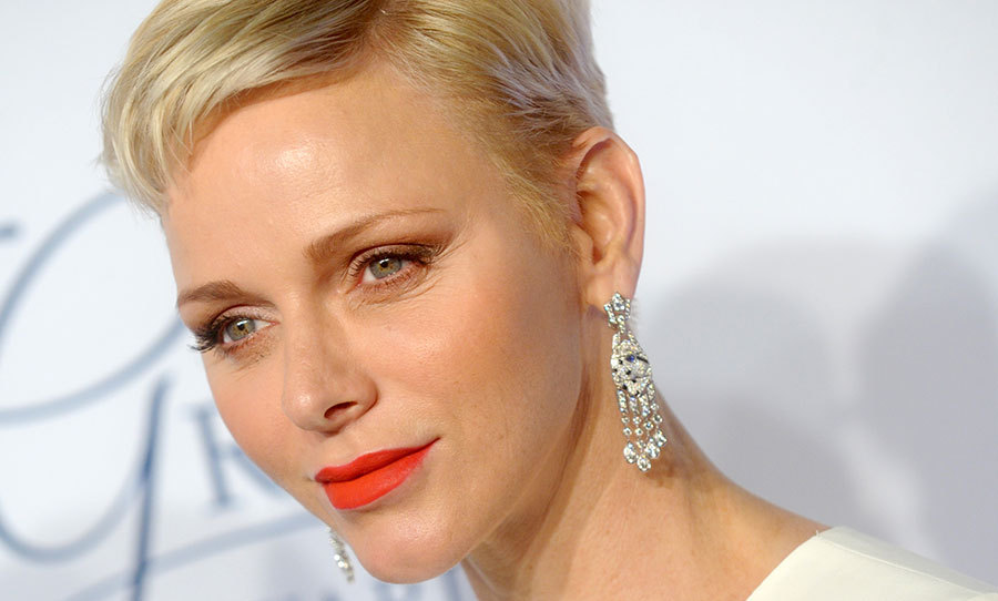 Princess Charlene of Monaco was the epitome of radiance, her pixie cut swept to the side and paired with statement lips at the Princess Grace Awards.