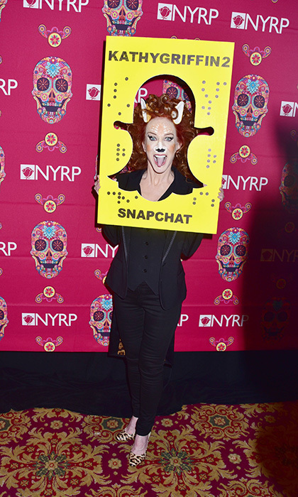 Kathy Griffin snapped her way through Bette Midler's annual Hulaween bash!