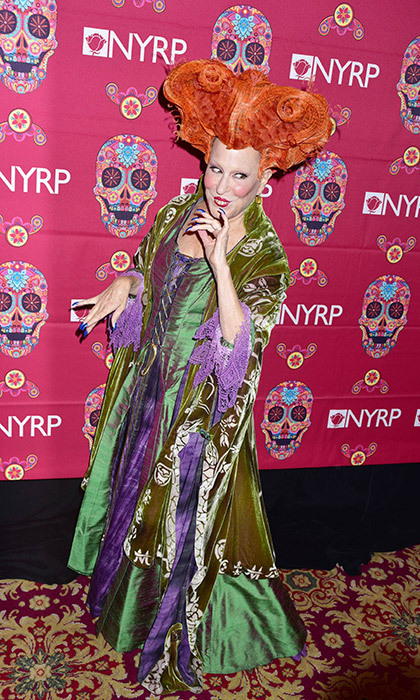 Bette Midler pulled out all the stops yet again for her charity masquerade, where the 70-year-old actress reprised her beloved <em>Hocus Pocus<em> character, Winnie Sanderson.
