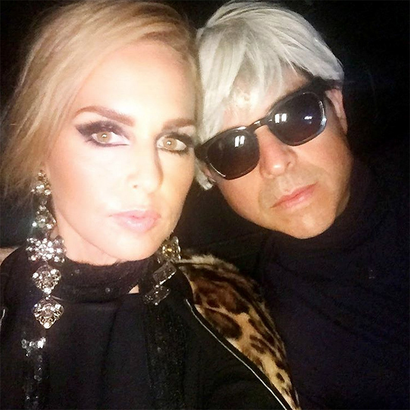 Leopard and liquid liner! Rachel Zoe was the ultimate Edie Sedgwick, complete with her own Andy Warhol.
