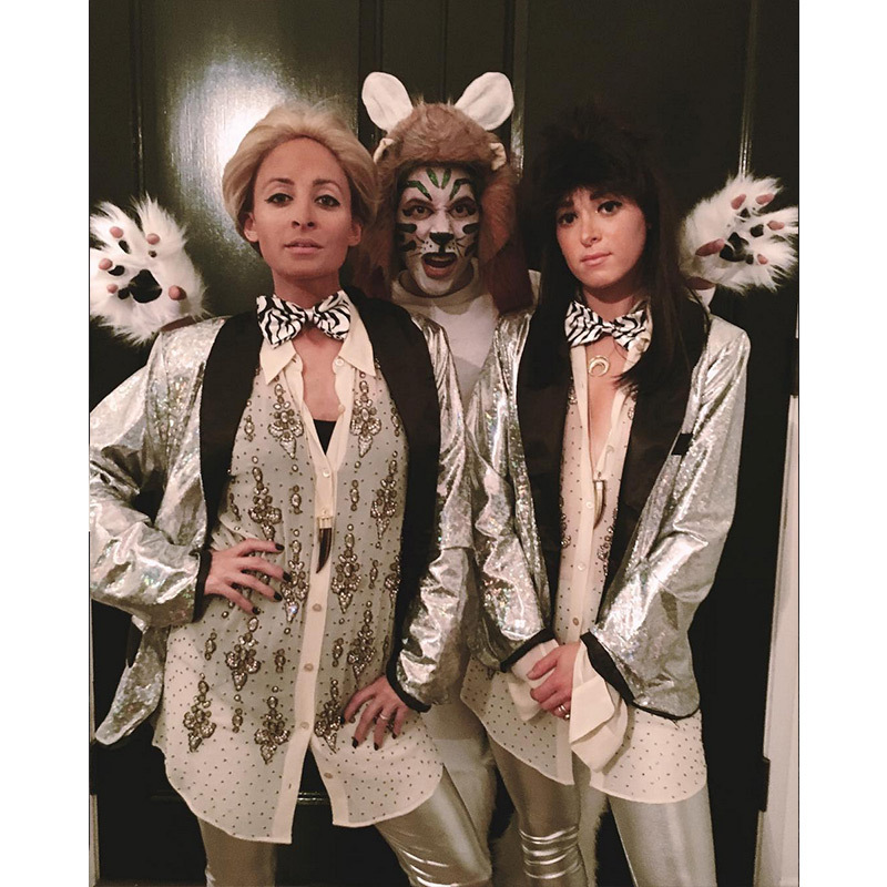 """Happy Halloween from Siegfried & Roy "" said Nicole Richie.