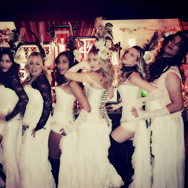 Kate Hudson looked to the west for inspiration as she hosted a star-studded crowd at her Halloween party with a gaggle of saloon gals. 