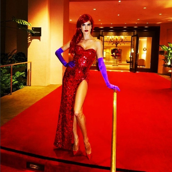 Alessandra Ambrosio as Jessica Rabbit.