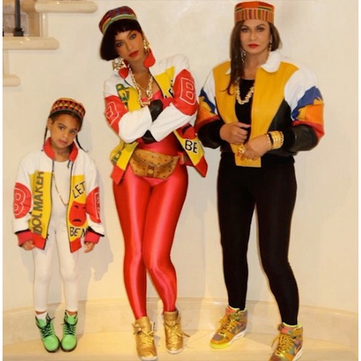 Beyoncé, daughter Blue Ivy and mom Tina were the perfect Salt-N-Pepa. 