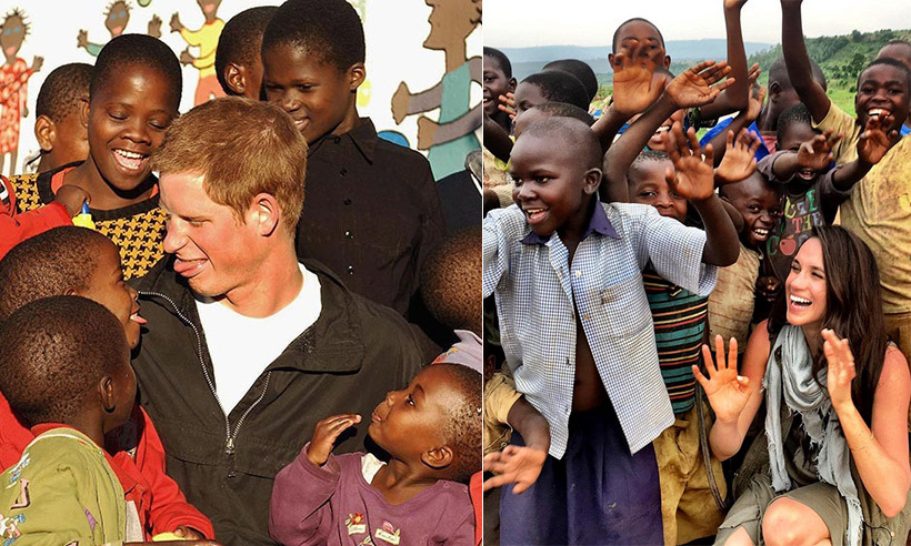 <h3>They've both spent time in Africa working with children's charities</h3>