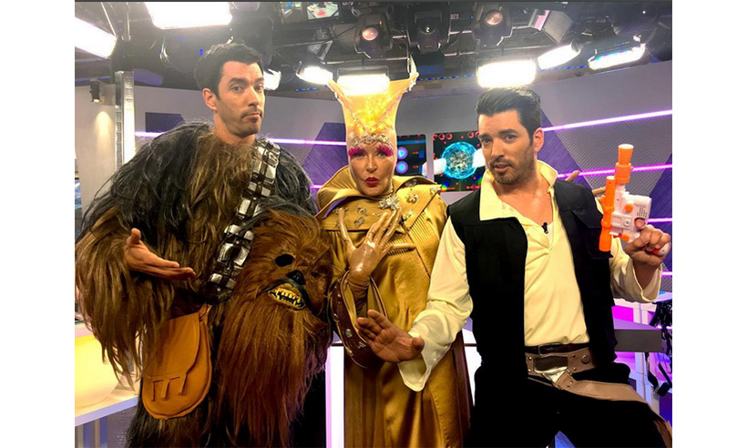 Jonathan and Drew Scott felt the force as characters from <i>Star Wars</i> while Marilyn Denis embraced her extraterrestrial side. 