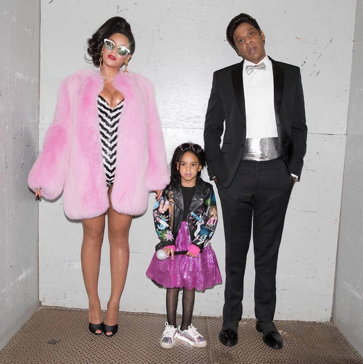 Beyoncé Jay Z And Blue Ivy Dressed Up As The Barbie Family Complete With