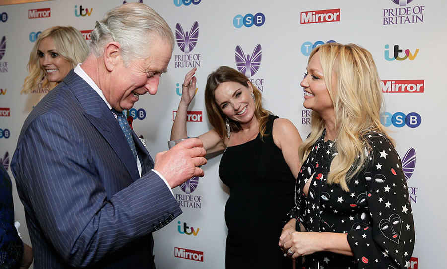 Geri Horner and Emma Bunton shared a giggle with Prince Charles at the Pride of Britain Awards on Monday.