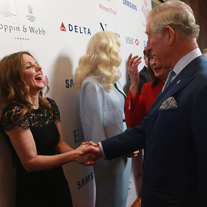 Earlier this year, Geri was seen talking to Prince Charles at the Prince's Trust Celebrate Success Awards at the London Palladium.