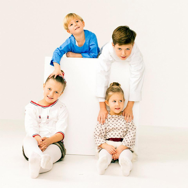 October 2016: The Danish royal family donned traditional outfits to pose for a new Greenland stamp, and the palace posted additional photos of Princess Mary and Prince Frederik's four children - Prince Christian, Princess Isabella and twins Prince Vincent and Princess Josephine - hanging out on set. 