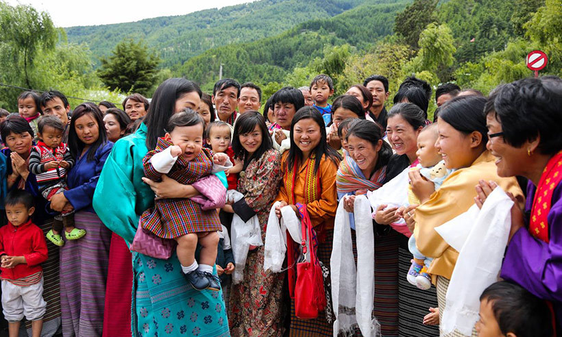 The people of Chamkhar were overjoyed to meet their new prince. 
