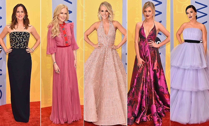 Click through our gallery too see all the red-carpet fashion at the 2016 Country Music Awards...