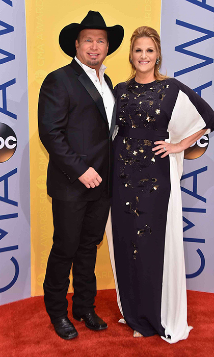 Gareth Brooks and Trisha Yearwood had perfectly coordinated outfits. 