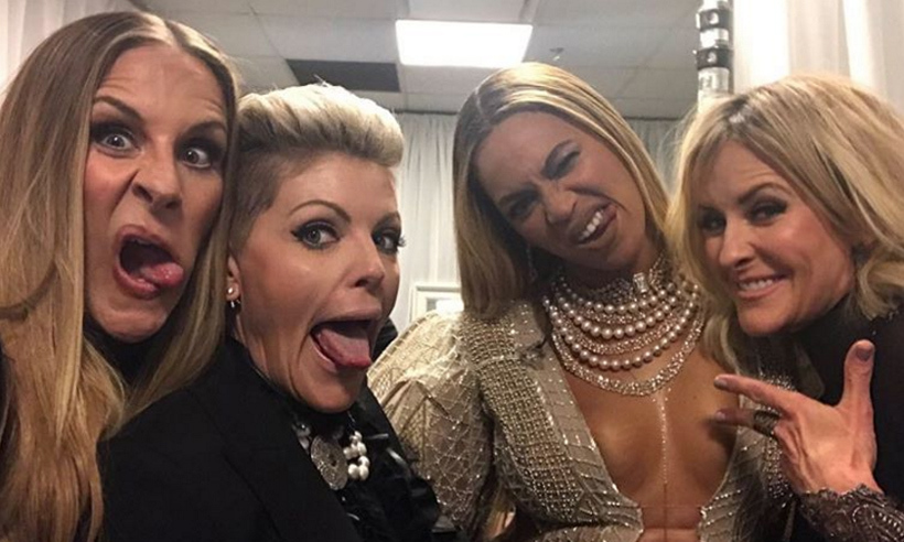 "Country rockers the Dixie Chicks could hardly contain their excitement backstage after performing ""Daddy Lessons"" with Beyoncé at the CMA Awards.