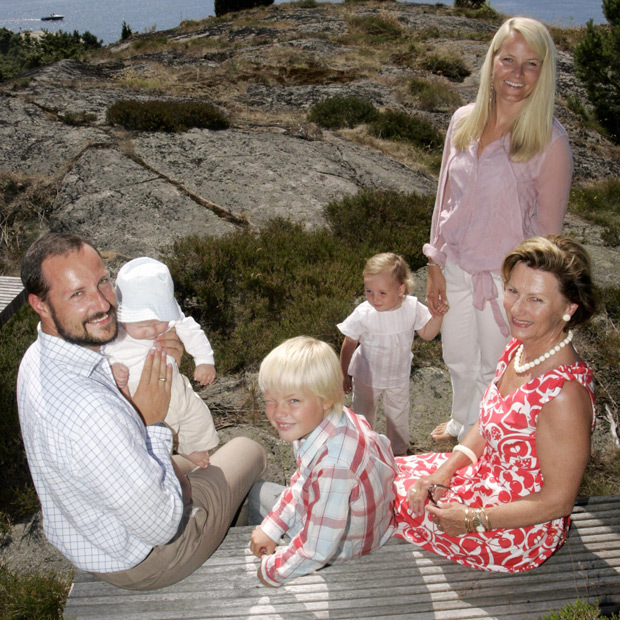 The royal family, including Queen Sonja, love to escape to their summer residence in Mageroe, Norway. 