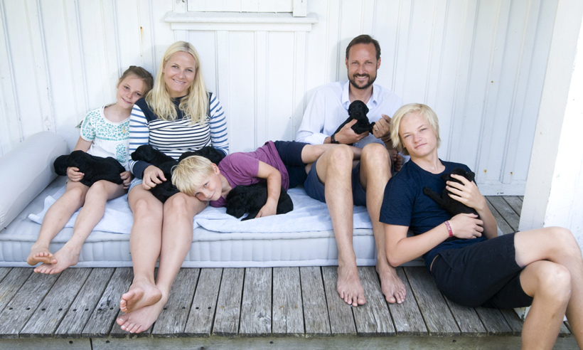 In July 2013, the family shared a series of photos to show off their dog Milly Kakao's adorable nine puppies. <br>Photo: © Veronica Melå/The Royal Court