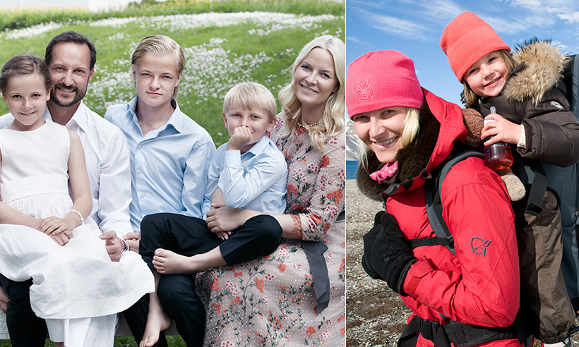 Norway's Prince Haakon and Princess Mette-Marit and their three children, Marius, 19, Ingrid, 12, and 10-year-old Prince Sverre Magnus live a happy life together at Skaugum Palace. When they aren't enjoying each other's company at home, the close-knit clan love to travel around the world. 