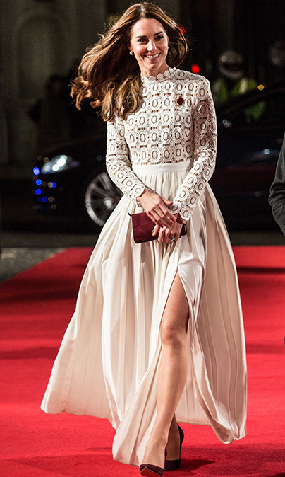Kate dazzled in a white gown. 