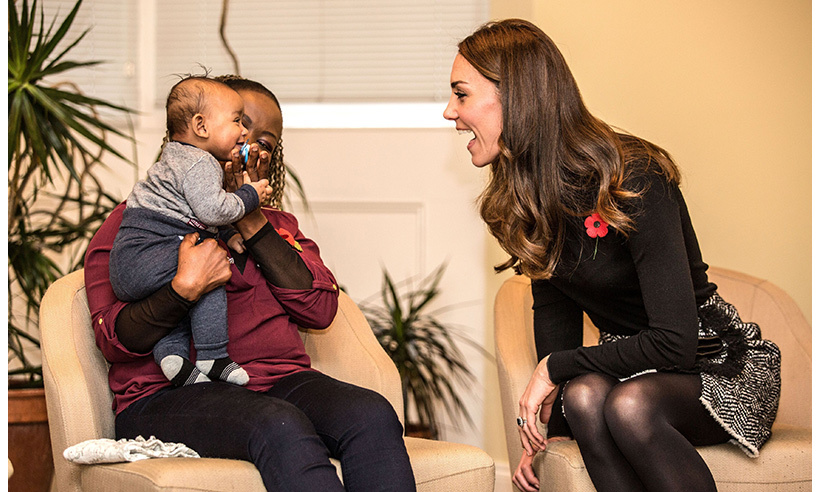 This adorable little boy had Kate's full attention. 