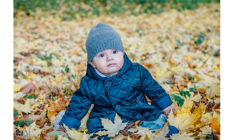 On social media, Sweden's Royal Family sent fall greetings alongside this too-cute-snap of little Oscar playing in the leaves. 