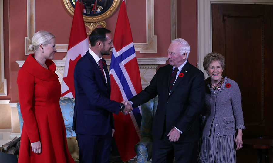Governor General David Johnson and his wife Sharon officially welcomed the couple to Canada on Nov. 7