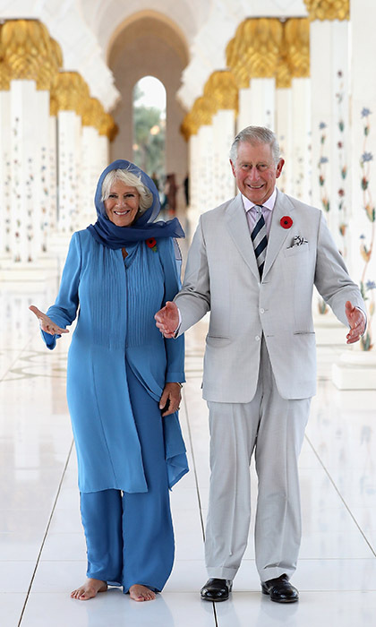 The couple of 11-years visited Abu Dhabi's Sheikh Zayed Grand Mosque. 