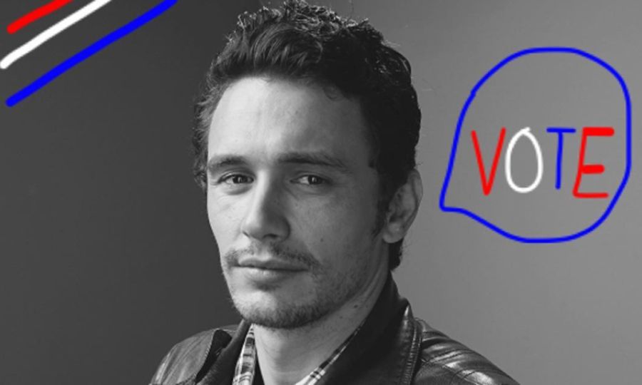 James Franco posted this pic to rally his fans to the ballot box.