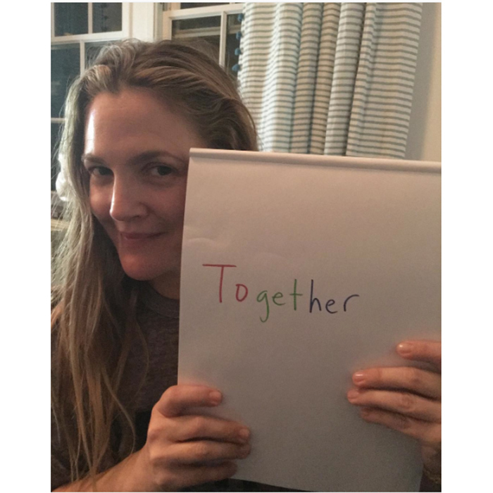 Drew Barrymore's photo spoke for itself!