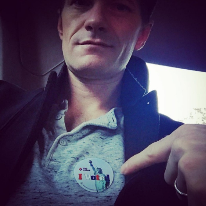 Neil Patrick Harris showed off his sticker and encouraged his followers to vote with a quote by Martin Luther King Jr. 