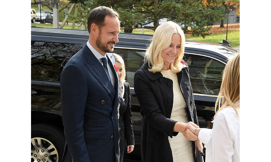 On Tuesday, the prince and princess visited the University of Toronto's Hart House to attend music and literature seminars. The couple also spent time at Ryerson University. 
