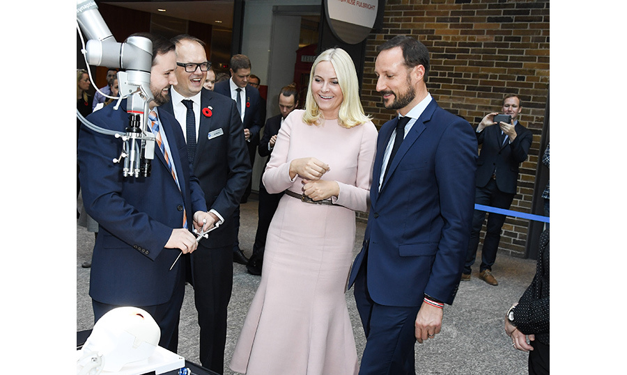 On Wednesday (Nov. 9), the adorable couple explored the Medtech and Start-up Initiative at the MaRS Centre in downtown Toronto.  