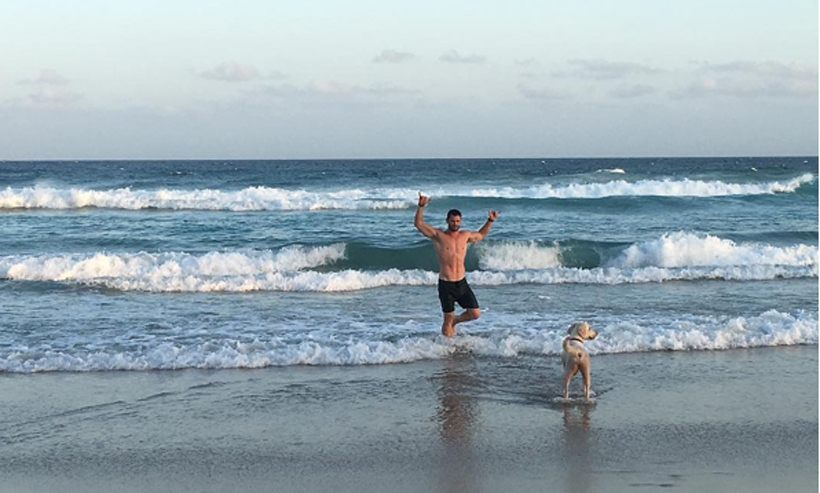 Chris Hemsworth wants everyone to know he's doing okay after being attacked by a wild dog while on a morning run along the beach.