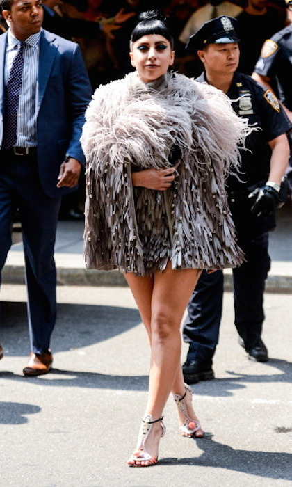 Like Beyonce and Madonna before her, Lady Gaga slipped into something spectacular by Canadian twins Dean and Dan Caten of Dsquared2 for a taping of the <em>Today Show</em> in 2014.
