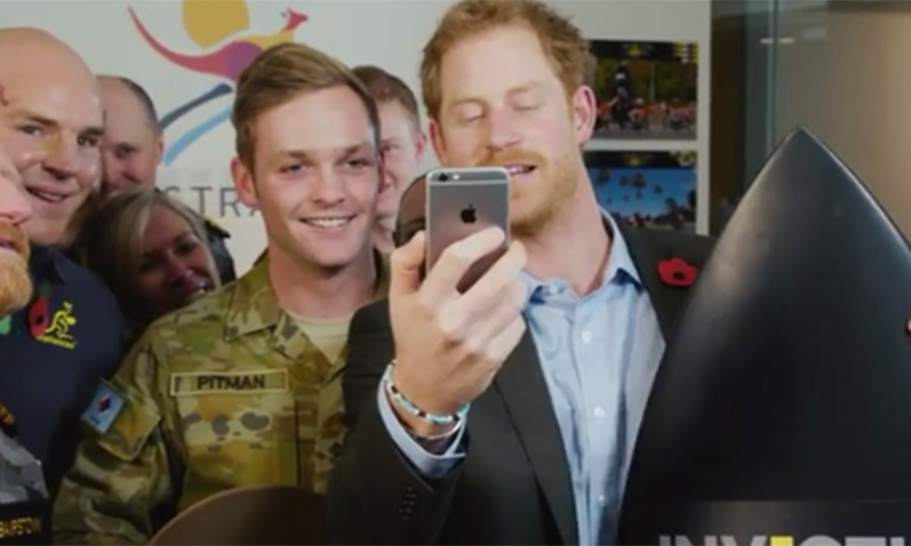 Prince Harry and Kylie Minogue announce Invictus Games in Sydney.