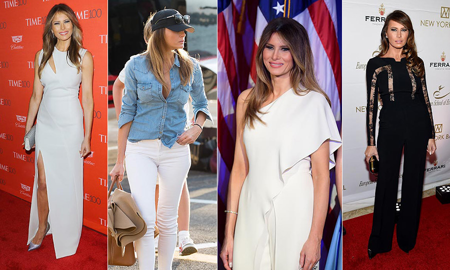 Melania Trump has been by her husband's side throughout his presidential campaign, all the while looking chic in a number of sophisticated designer ensembles.