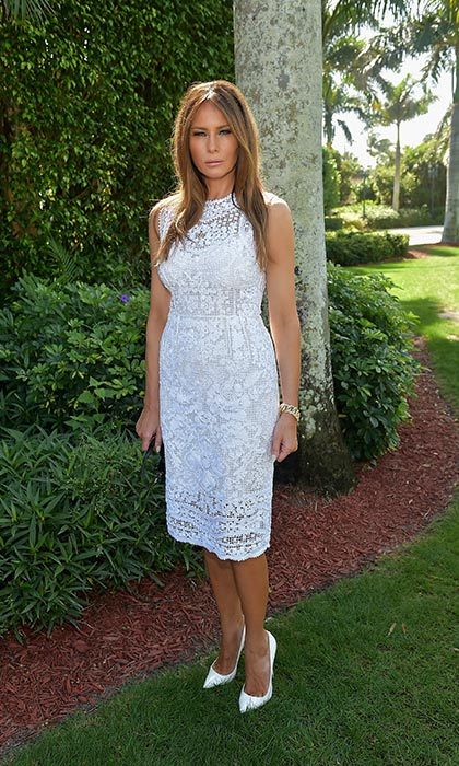 Another winning white ensemble from the future First Lady.