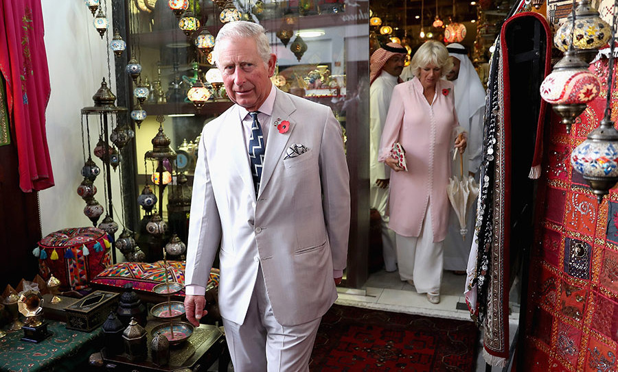 Prince Charles and Camilla explore the souk in Manama, Bahrain on the third day of their royal tour in the Gulf. 