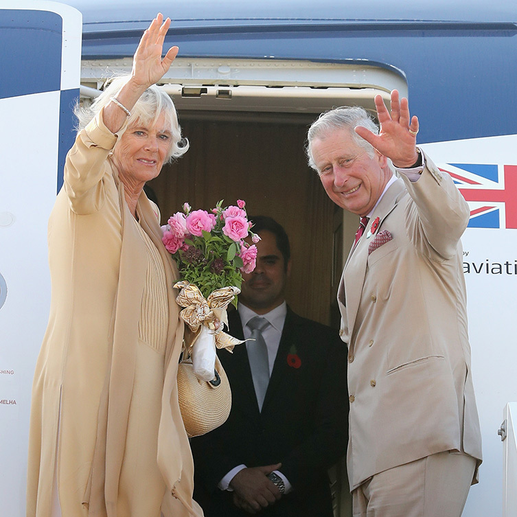 Charles and Camilla wave goodbye to Bahrain!
