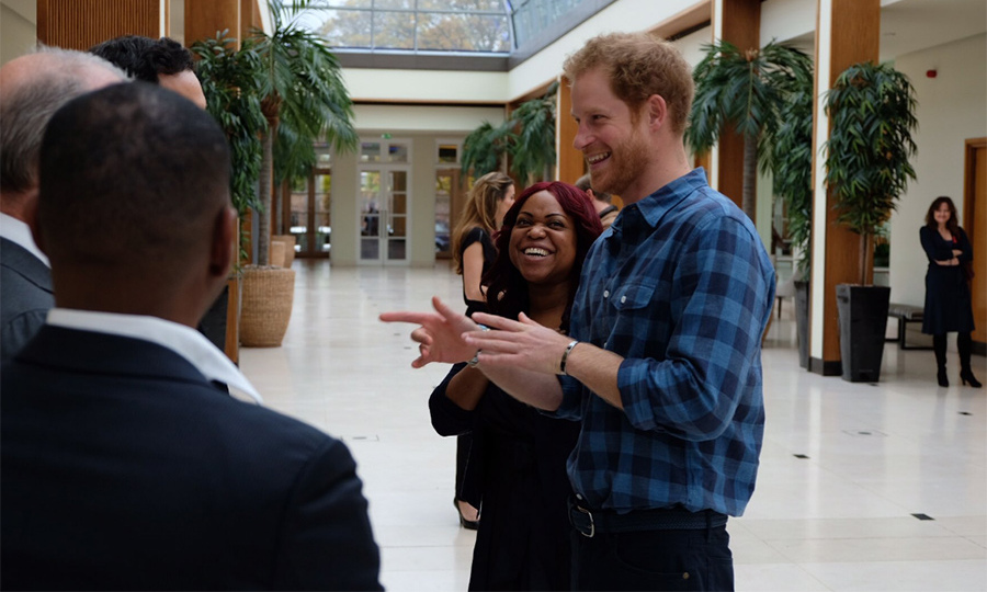 Prince Harry visited sexual health charity NAZ.