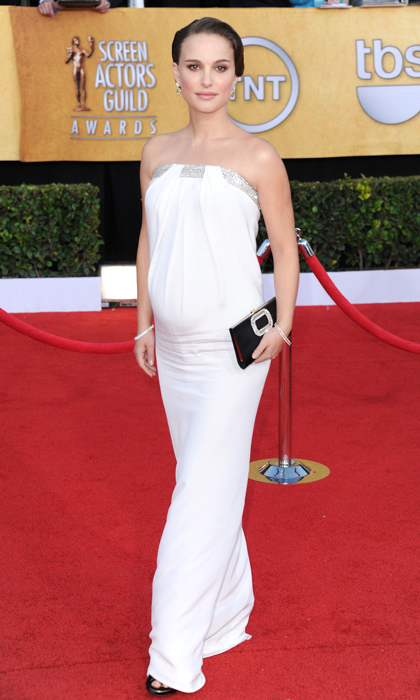 The 2011 Screen Actors Guild Awards saw the mom-to-be looking sleek and stunning in white Azzaro.
