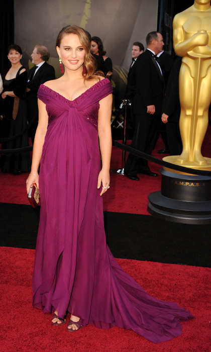 The <em>Black Swan</em> nominee was a vision in magenta Rodarte at the 2011 Oscars, where she scooped up the win for Best Supporting Actress.