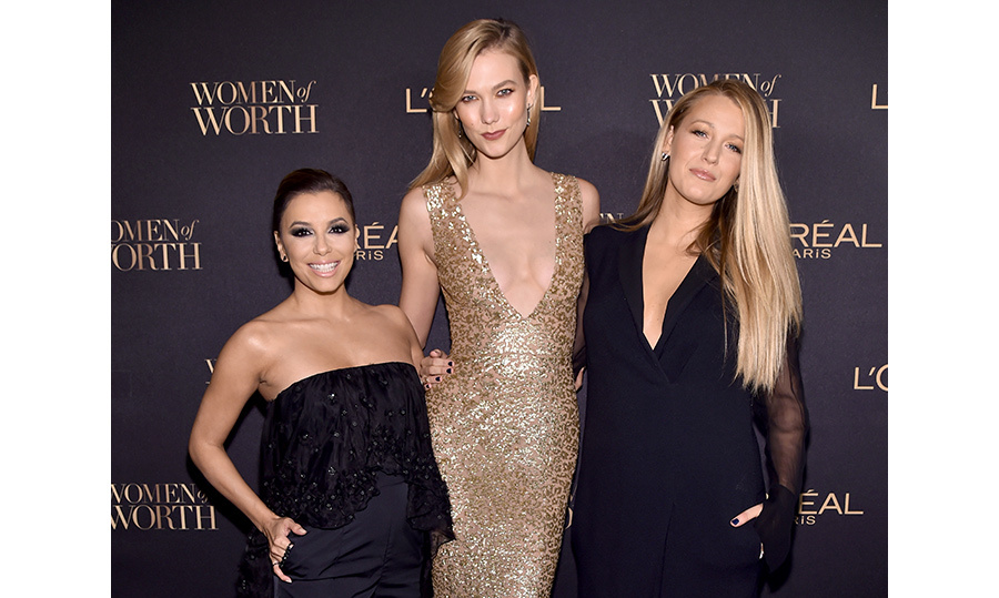 Eva Longoria, Karlie Kloss and Blake Lively. 